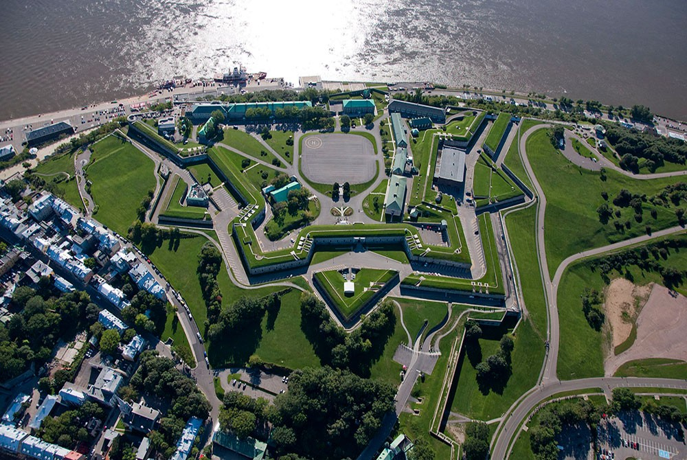 the Citadelle of Quebec as seen from above
