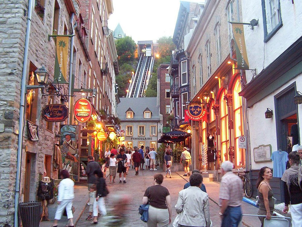 Petit Champlain and the funicular