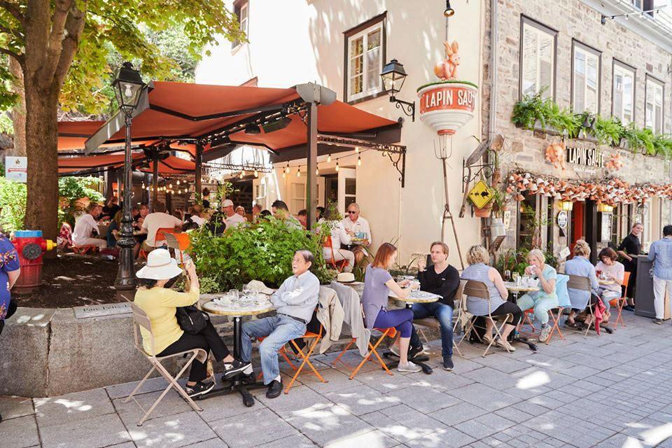 brunch at Le Lapin Sauté in Quebec City