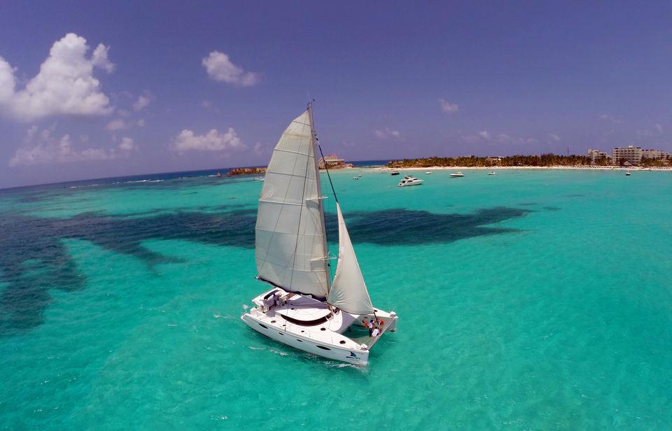an Isla Mujeres tour by catamaran