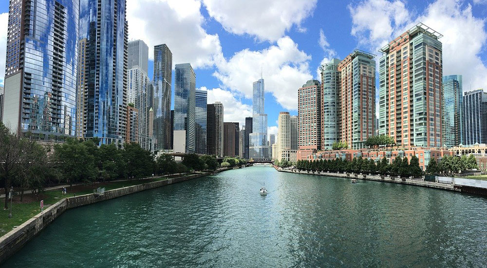 the Chicago river - perfect for outdoor activities