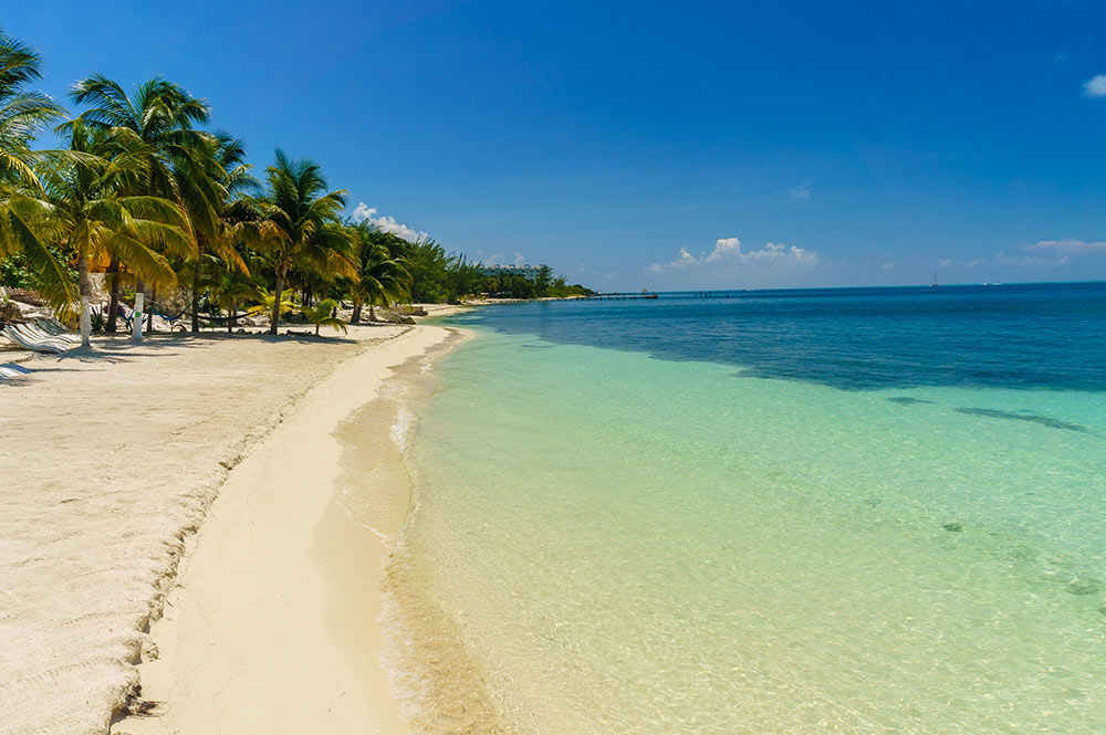 one of the beaches on Isla Mujeres